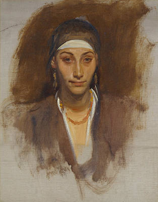 Painting - Egyptian Woman With Earrings by John Singer Sargent