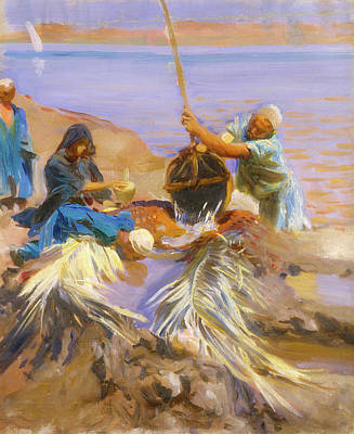 Raising Painting - Egyptians Raising Water From The Nile by Mountain Dreams