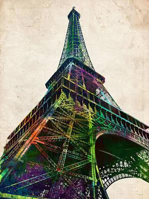 Digital Art - Eiffel Tower by Marlene Watson