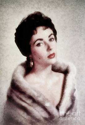 Actors Royalty-Free and Rights-Managed Images - Elizabeth Taylor, Vintage Actress by JS by John Springfield