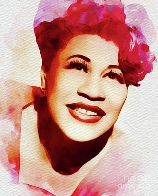 Kitchen Food And Drink Signs - Ella Fitzgerald, Music Legend by Esoterica Art Agency