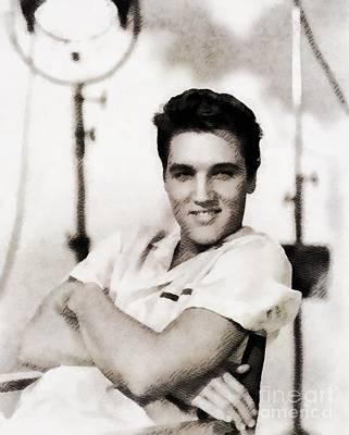 Elvis Presley Painting - Elvis Presley, Music Legend by John Springfield