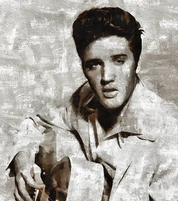 Television Painting - Elvis Presley, Singer by John Springfield