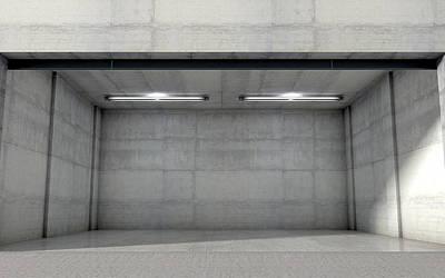 Storage Digital Art - Empty Double Garage by Allan Swart