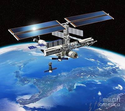 Roberto Photograph - Eneide Mission To The Iss, Artwork by David Ducros
