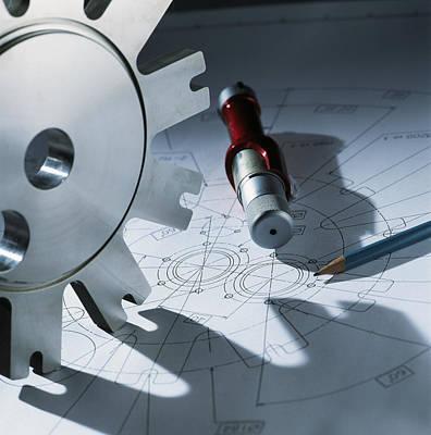 Engineering Equipment Art Print by Tek Image