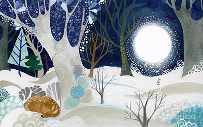 Winter Scene Painting - Enid Spring Book Art by Kate Cosgrove
