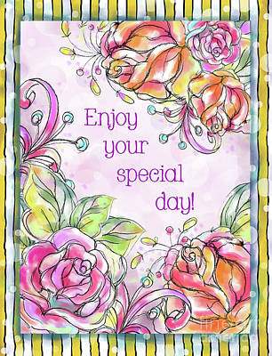 Vale Mixed Media - Enjoy Your Special Day by Pam Vale