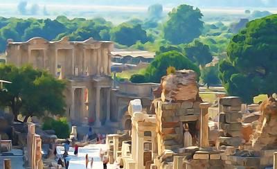 Photograph - Ephesus Library by Lisa Dunn