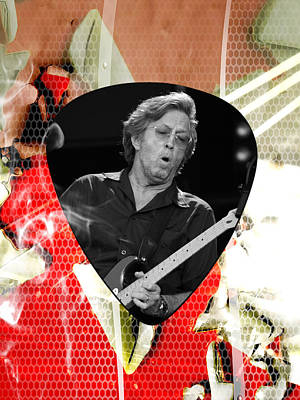 Rock And Roll Mixed Media - Eric Clapton Art by Marvin Blaine