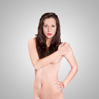Sensual Photograph - Erotic Nude Brunette by Jochen Schoenfeld
