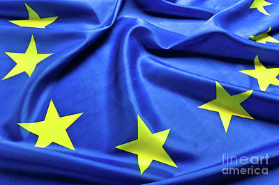 Photograph - European Flag Background by Gualtiero Boffi