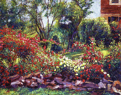Painting - Evening Roses by David Lloyd Glover