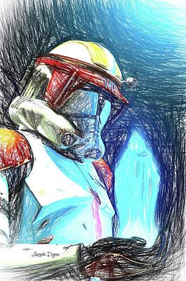 Execute Order 66 - Sketch Style Art Print by Leonardo Digenio
