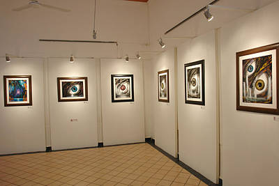 Exhibition Cozumel Museum Art Print by Angel Ortiz