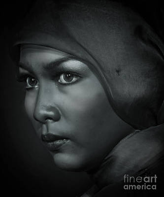 Photograph - Face by Charuhas Images