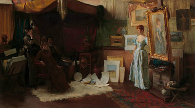 Painting - Fair Critics by Charles Courtney Curran