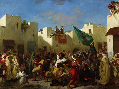 Group Painting - Fanatics Of Tangier by Eugene Delacroix