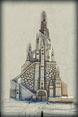 Fantasy Castle Art Print by Humorous Quotes