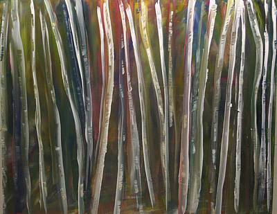 Painting - Fantasy Forest Series by Dolores  Deal