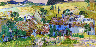 Painting - Farms Near Auvers by Vincent Van Gogh