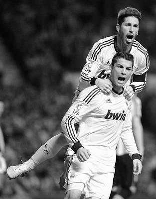 Athletes Royalty-Free and Rights-Managed Images - Cristiano Ronaldo 14 by Rafa Rivas