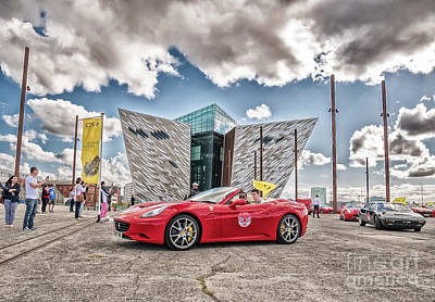 Photograph - Ferrari 70 Years Anniversary Celebration In Belfast by Jim Orr