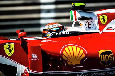 Sauber Photograph - Ferrari Formula 1 Kimi Raikkonen by Srdjan Petrovic
