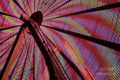 Photograph - Ferris Wheel In Motion by Jim Corwin
