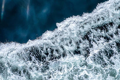 Puget Sound Photograph - Ferry Waves by Tanya Harrison