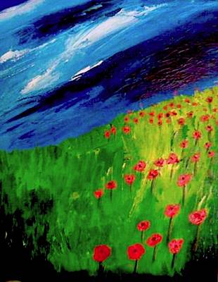 field of Poppies Art Print by Misty VanPool