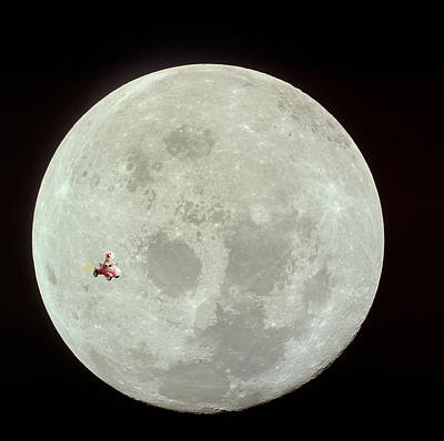 Fifi Goes To The Moon Art Print by Michael Ledray