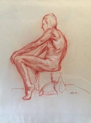 Figure Study Art Print by Alejandro Lopez-Tasso