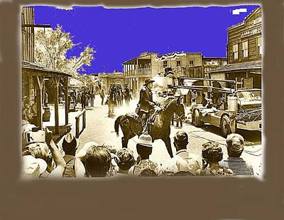 Film Homage Cameron Mitchell The High Chaparral Main Street Old Tucson Az Publicity Photo Art Print by David Lee Guss