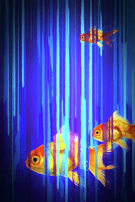 Photograph - 3 Fish by James Bethanis