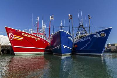 Photograph - 3 Fishing Boats by Paul and Janice Russell