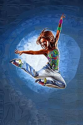 Michael Digital Art - Floor Dance by Michael Vicin