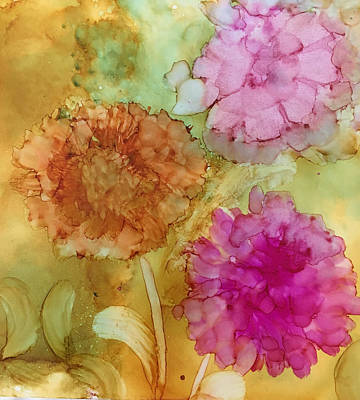 Painting - 3 Flowers by Karin Eisermann