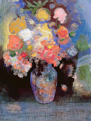 Fresh Flowers Painting - Flowers by Odilon Redon