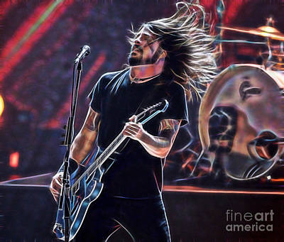 Foo Fighters Mixed Media - Foo Fighters Collection by Marvin Blaine