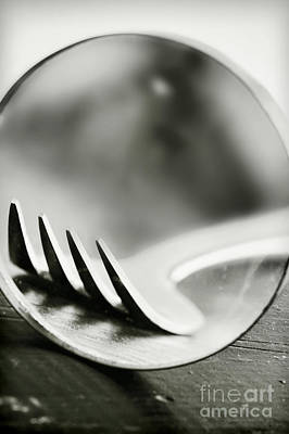 Fork Art Print by HD Connelly