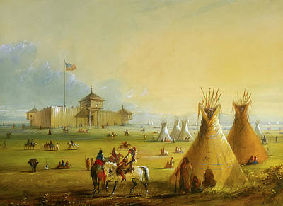 Prairie Skies Art Painting - Fort Laramie by Alfred Jacob Miller