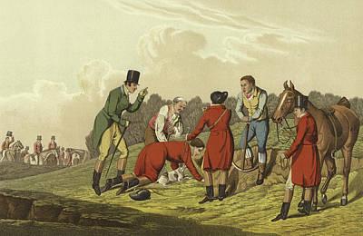 Fox Drawing - Fox Hunting by Henry Thomas Alken