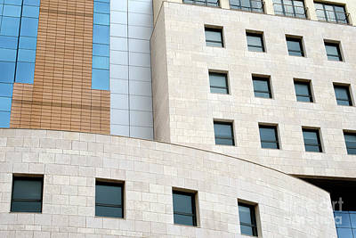 Cities Photograph - Fragment Of A Modern Building by Dani Prints and Images