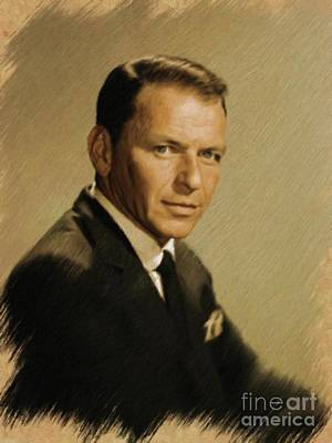 Painting - Frank Sinatra, Legend by Mary Bassett