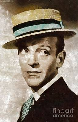Musicians Royalty-Free and Rights-Managed Images - Fred Astaire Hollywood Legend by Mary Bassett