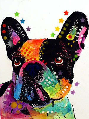Bulldog Painting - French Bulldog by Dean Russo