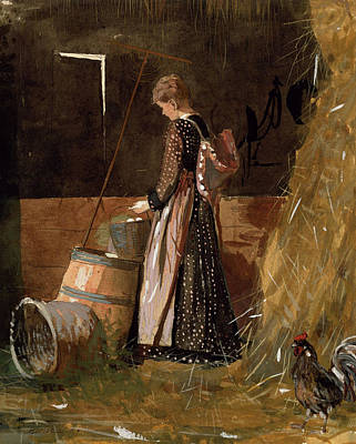 Barrel Painting - Fresh Eggs by Winslow Homer