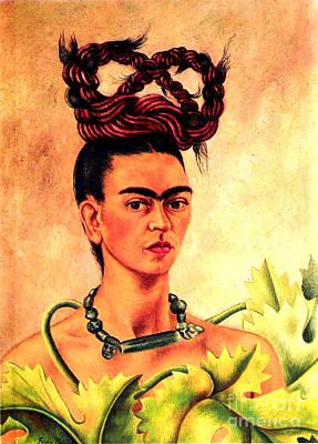 Frida Kahlo Self Portrait Art Print