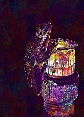 Digital Art - Frog Tree Frog  by PixBreak Art